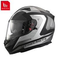 西班牙头盔双镜片摩托车机车全覆式头盔电动车头盔冬季 2X