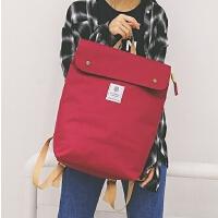 双肩包女韩版学院风韩国学生新款纯色糖果色情侣书包旅行背包
