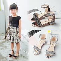 夏季女童凉鞋高跟小女孩中大童公主鞋儿童凉鞋女童鞋