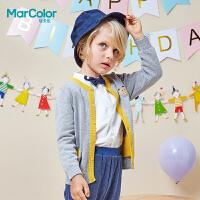 【2件2折】拉巴拉旗下MarColor马卡乐2019春新品男童纯棉卡通图案毛开衫