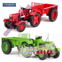 凯迪威复古拖拉机模型玩具车1:18合金工程车拖拉机农用车农夫车复古拖拉机模型玩具车