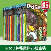 正版 A to Z Mysteries 神秘案件全套26册盒装 英文原版 神秘事件 英文版桥梁初级章节书 儿童经典侦探