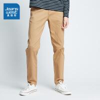 [尾品汇到手价:83.9元]真维斯休闲裤男2018春装男装弹力修身长裤青年中低腰裤子