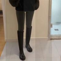 2018秋冬新款真皮女长靴不过膝平底女靴高筒靴子英伦骑士靴直筒靴SN1936