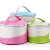 厚牛津布便当袋 圆形手提袋 苹果饭盒保温袋 便当包袋防水袋