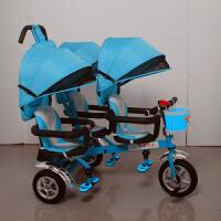W 二胎婴儿手推车双人车二胎神器三胞胎三人座童车三轮车脚踏车推车D