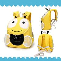 女宝宝1-3岁可爱小蜜蜂背包婴幼儿园防走失男女童包儿童出游书包
