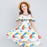 【3件1.5折价:67】笛莎女童连衣裙2021夏季新款女童洋气时尚甜美公主裙