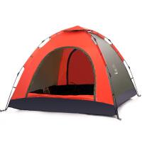 全自动帐篷户外3-4人双人单人2人野营野外露营蚊帐家庭套装 3-4人款套装A1