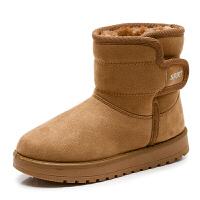 2018冬季新款儿童冬鞋加厚男童棉鞋加绒保暖女童雪地靴防滑小短靴