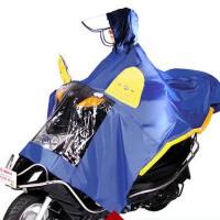 大电瓶车 摩托车雨衣电动车气囊式自排水头盔式帽檐雨披