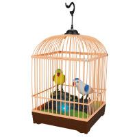 海阳之星 声控鸟笼电动感应仿真鸟 会叫会动 儿童玩具画眉小鸟 颜色随机222-83