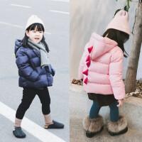 冬季羽绒服童装男女童白鸭绒加厚保暖羽绒服宝宝粉色蓝色外套