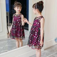 女童连衣裙新款时尚夏装小女孩公主裙子潮