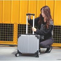空姐商务18寸登机箱子旅行箱行李箱17拉杆箱小型男女小16密码箱包 银色 18寸(加容设计)