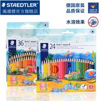德国施德楼水溶性彩铅144 10ND36彩色铅笔水溶画笔套装彩铅手绘