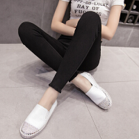 打底裤女春季2018新款女韩版百搭高腰外穿小脚裤黑色铅笔裤紧身裤