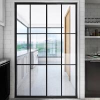 【优选】吊轨钛镁铝合金卫生间隔断阳台厨房推拉门玻璃移门室内门定制定做