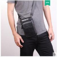 手机腰包男穿皮肩斜挎包商务休闲带竖款5.5/6/7寸大容量小单