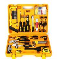得力3703多用途组合工具五金工具套装百宝箱工具箱53套工具