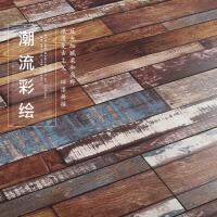 做旧复古仿古木地板强化复合符合工业风背景墙上m3z