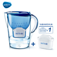 碧然德BRITA厨房净水器过滤芯自来水家用净水壶海洋 金典系列3.5L蓝【1壶1芯】