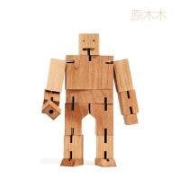 木头魔方机器人创意儿童情人节生日礼物送女友闺蜜新奇小礼品DIY