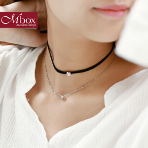 新年礼物Mbox项链 女韩国版原创大气多层choker锁骨项链颈链项圈 岁月絮语