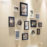 欧式照片墙创意实木相框墙简约客厅挂墙组合相片墙装饰