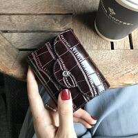 牛皮迷你卡包女鳄鱼纹小巧2018新款简约多卡位皮卡夹驾驶证件包