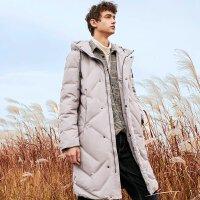 【5.16-5.17日抢购价:215】美特斯邦威羽绒服男新款冬季保暖中长款学生外套男