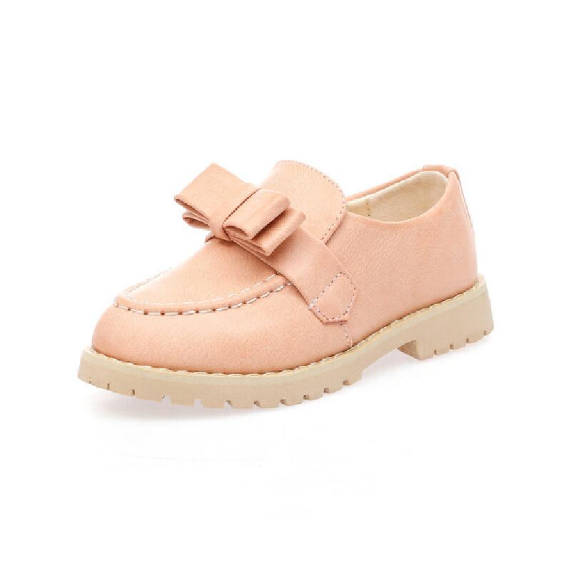 正品比比我2017春季新款学生儿童蝴蝶单鞋女童皮鞋公主鞋 女款适用,韩版百搭。