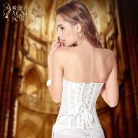 宫廷美体束腰收腹提臀塑形束身衣上衣女 婚纱薄款塑身衣内衣
