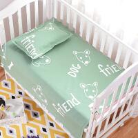 ???全棉老粗布婴儿床单宝宝凉席夏季幼儿园床单卡通儿童凉席