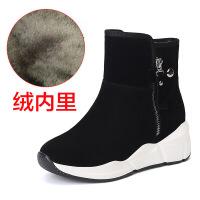 №【2019新款】冬天穿的靴子女短靴内增高平底短筒女鞋羊毛松糕雪地靴女