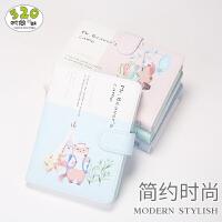 *先生的露营磁扣精装本创意小方格韩国商务记事本手账本
