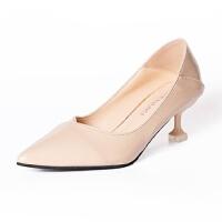 WARORWAR法国YM29-2801P新品四季韩版漆皮高跟鞋尖头女士单鞋