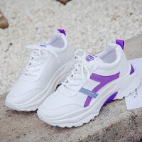 2019春季新款透气百搭运动鞋女韩版 学生跑步鞋ins超火网红老爹鞋 紫色 标准码