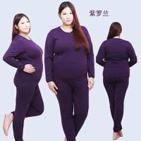 中老年加绒加厚保暖内衣妈妈套装男女胖子加肥加大老人爸爸秋衣裤 5X(0-230斤左右)
