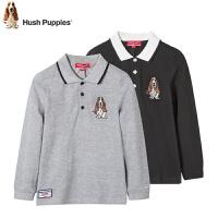 【159元选2件】暇步士童装新款男童都市简约POLO衫儿童长袖T恤