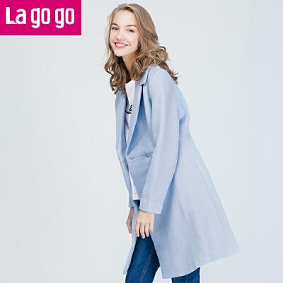 La·go·go 拉谷谷 FDDD33N935 女士双排扣大衣