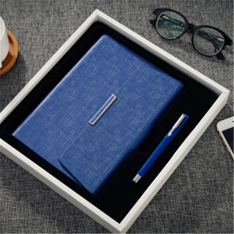 创意活页笔记本文具三折磁性A5记事本商务套装礼品封面可定制LOGO