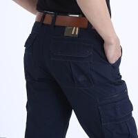 Afs Jeep/战地吉普春季新款工装休闲裤男直筒宽松大码长裤 6666