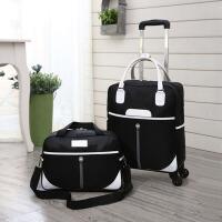 可爱小行李包女拉杆包旅行包女大容量轻便迷你短途旅行包男