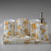 卫浴五件套 5件套洗漱牙刷架套装 浴室漱口杯套件用品