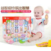 新生9婴儿牙胶手摇铃2小孩子8宝宝7儿童5玩具4礼盒3-6个月0-1周岁