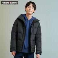 美特斯邦威羽绒服男短款韩版2017冬装新款简约保暖外套学生专柜款