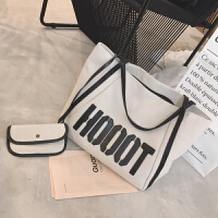 家居生活用品2018新款大包包大容量购物袋女包健身包字母休闲单肩包学生帆布包