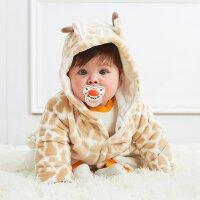 美特斯邦威旗下moomoo婴儿衣服冬款宝宝外套男女婴童珊瑚绒加厚保暖休闲连帽棉服