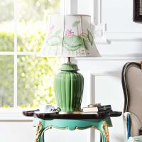 奇居良品 家居装饰灯具 纳西尔将军罐彩绘灯罩陶瓷台灯
